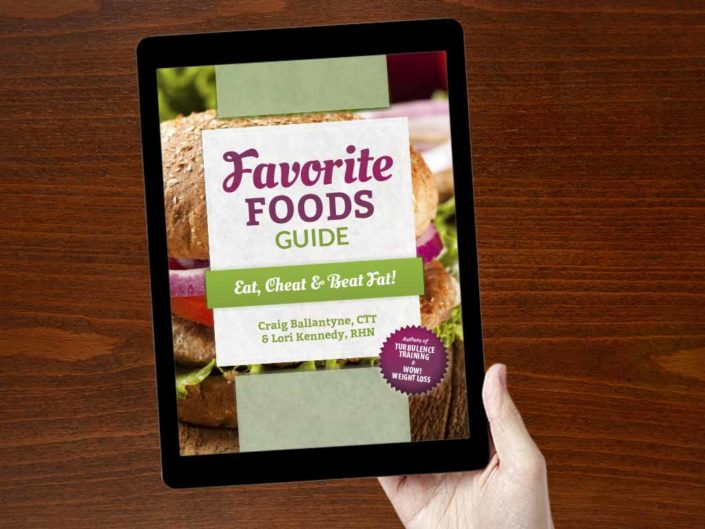 Favorite Foods eBook Cover Design on iPad