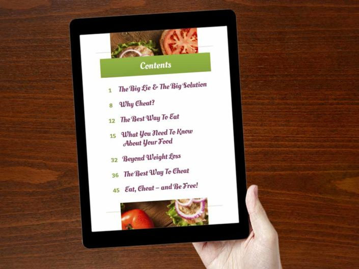 Favorite Foods eBook Recipe Design