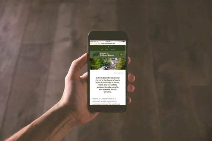 DuPontForest.com Mobile Responsive Website Design Asheville Web Development